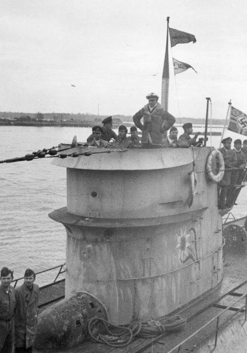 Подлодка «U-124» возвращается в Лорьян. Декабрь 1941 г.
