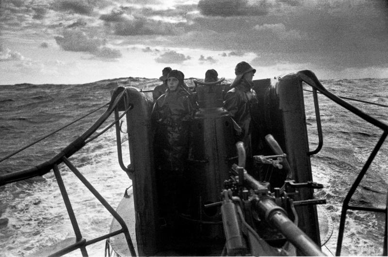 На мостике подлодки «U-96». Декабрь 1941 г.