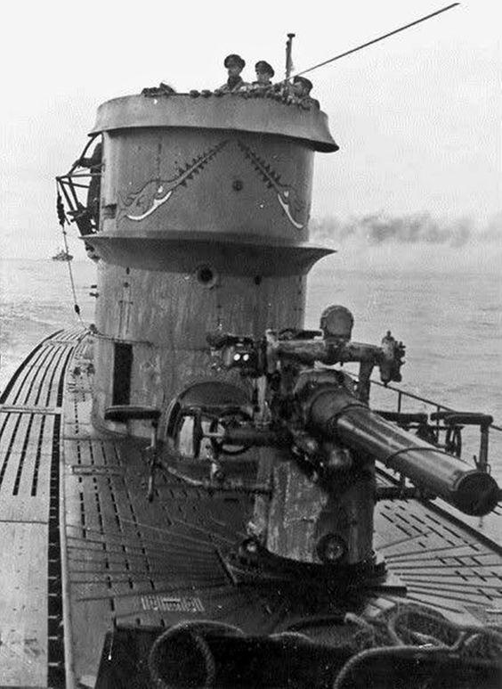 Подлодка «U-106» в море. 1943 г.