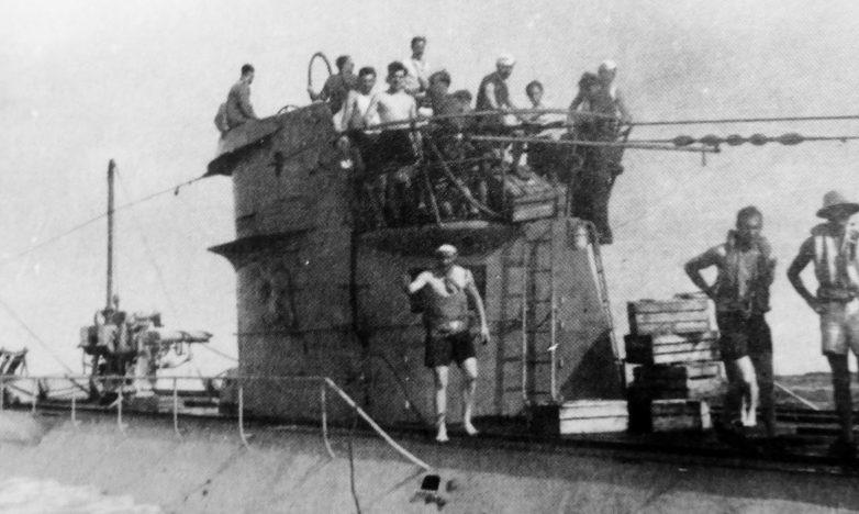 Экипаж подлодки «U-124» в Атлантике. 1941 г.