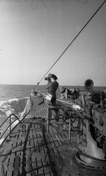 Подлодка «U-132» в море. Май 1942 г.