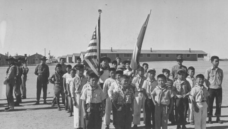 Воспитание патриотизму в лагере «Гранада». Май 1943 г.