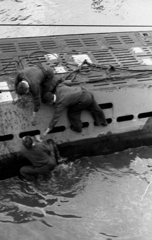 Падение за борт подлодки «U-455». Июнь 1942 г.