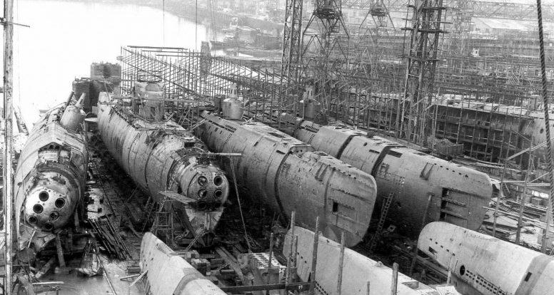 Строительство подводной лодки типа VII-C. 1944 г.
