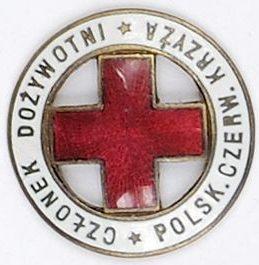 Памятный знак «Пожизненный член Польского Красного Креста».