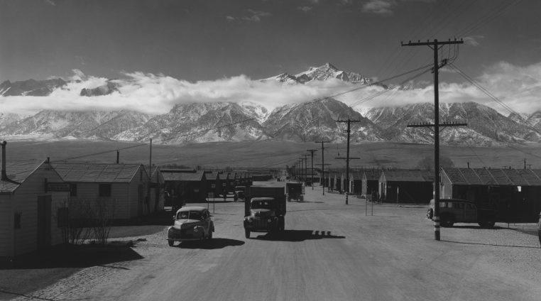 Вид на лагерь «Манзанар» в Калифорнии. 1943 г.