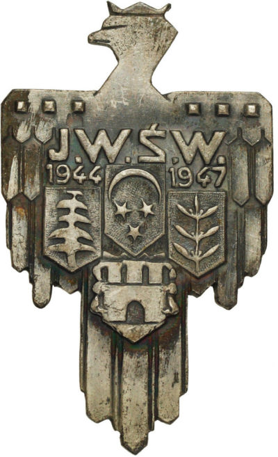 Аверс и реверс памятного знака Польской армия на Ближнем Востоке.