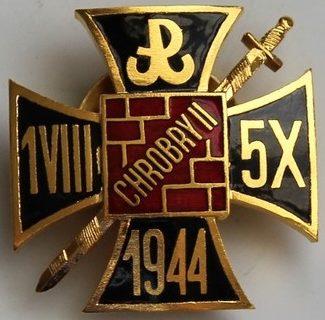 Наградной золотой знак группы «Храбри 2» Армии Краевой.