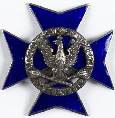 Аверс и реверс памятного знака Генерального штаба Верховного командования Польской армии.