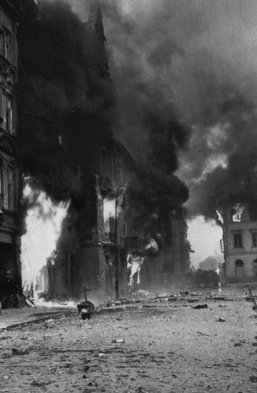 Пожары в городе. Август-сентябрь 1944 г.