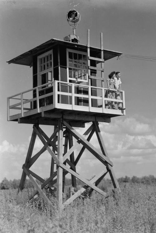 Сторожевая вышка лагеря «Jerome». Июнь 1944 г.