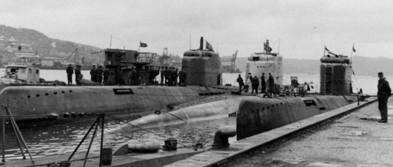 Подлодки типа XXI в Норвегии. Берген. 1945 г.