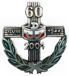 Памятный знак 60 лет Варшавскому восстанию.
