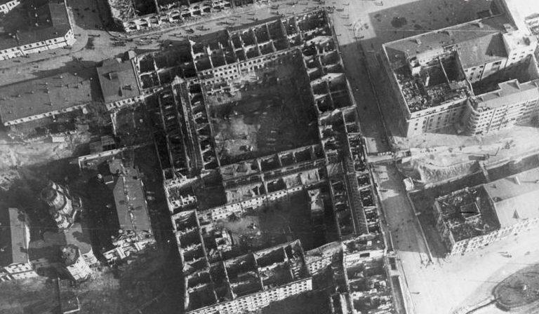 Госпром после пожаров и взрывов. Сентябрь 1943 г.
