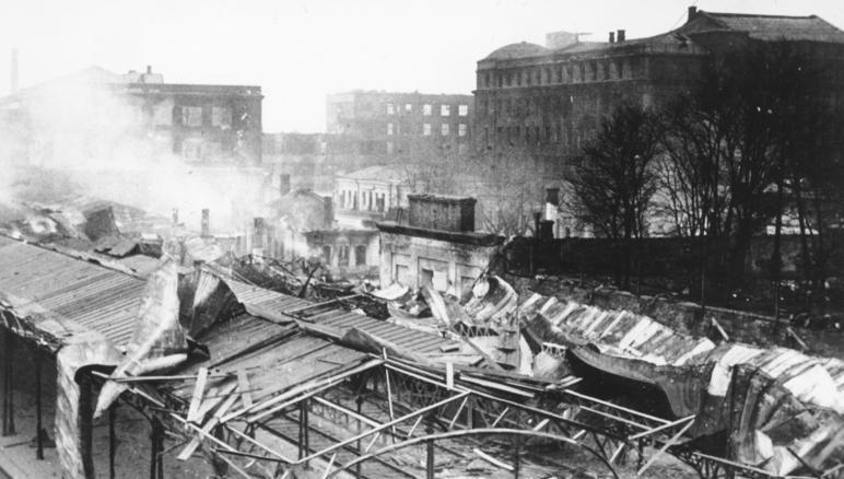 Разрушенный Южный вокзал. Сентябрь 1943 г.