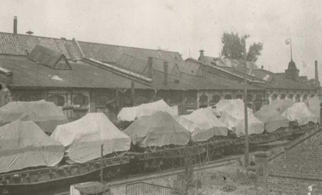 Отправка танков на фронт с завода им. Малышева. 1944 г.