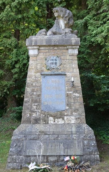 Муниципалитет Hamoir. Памятник погибшим в обеих войнах.