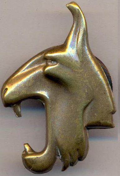 Аверс и реверс знака 5-й дивизии «Рысь».