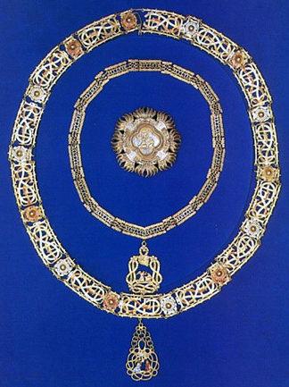Современный полный комплект ордена Святого Благовещения - с Большой и Малой цепью и звездой.