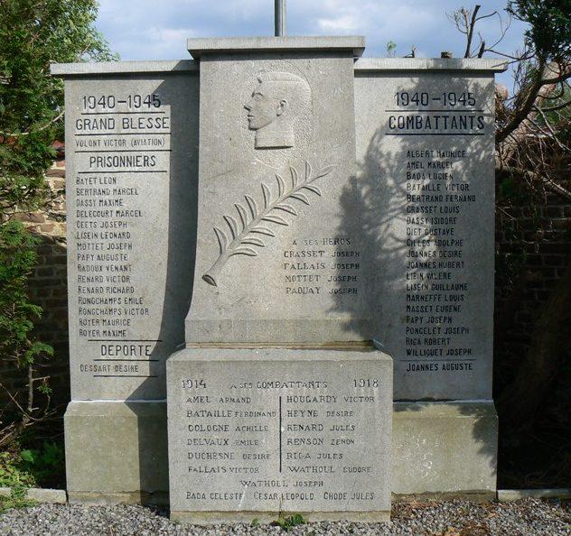 Муниципалитет Abolens. Военный мемориал обеих войн.