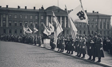 Организация «Lotta Svärd» получает официальный флаг. 1931 г.