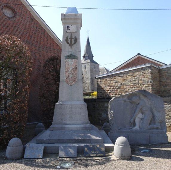 Муниципалитет Нандрин (Nandrin). Памятник погибшим воинам и жертвам обеих войн.