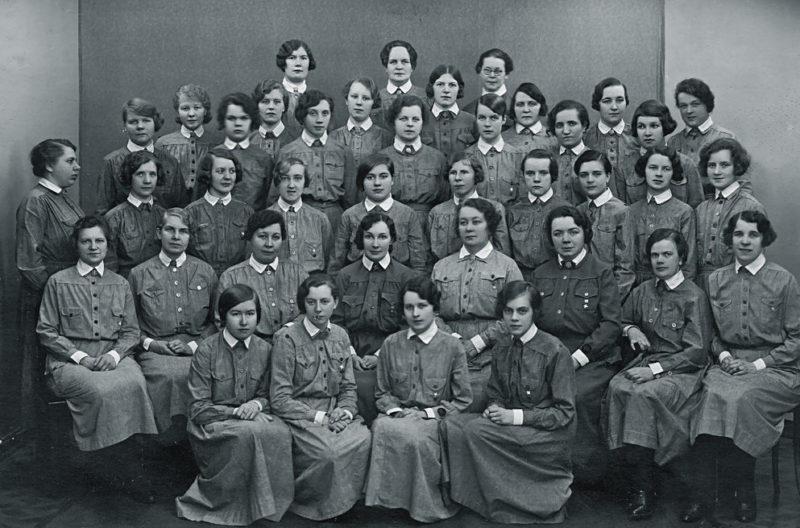 Девушки на курсах «Lotta Svärd». 1933 г.