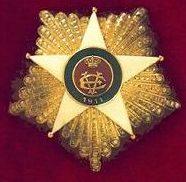 Позолоченная Звезда к знаку Кавалера Большого креста Колониального ордена Звезды Италии.