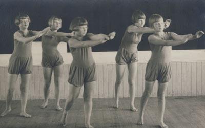 Секция девочек-гимнасток. 1933 г.