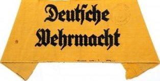 Нарукавная повязка для членов женского вспомогательного персонала Вермахта.