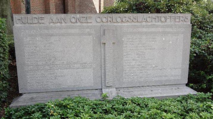 г. Антверпен (Antwerpen). Муниципалитет Minderhout. Военный мемориал политическим заключенным в 1940-1945 годов.