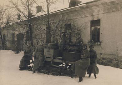 «Лотты» на военных маневрах. 1922 г.