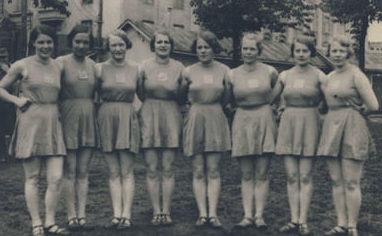 Девушки из «Лотты» на соревнованиях. 1934 г.