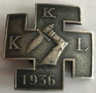 Аверс и реверс молодежной военизированной организации «IKL».