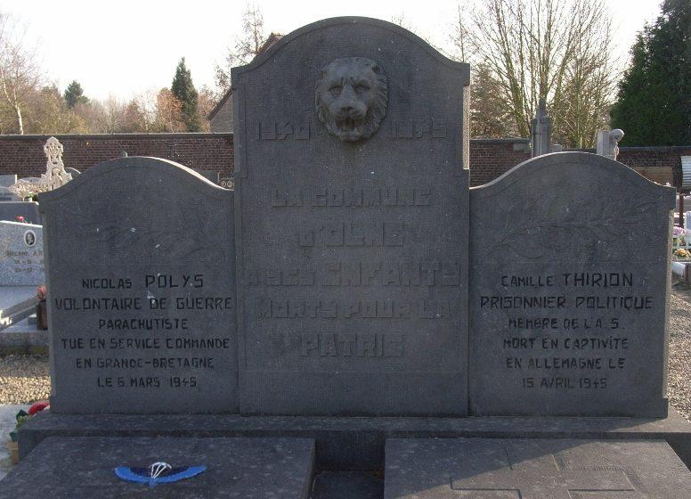Муниципалитет Olne. Памятник воинам, погибшим в годы Второй мировой войны.