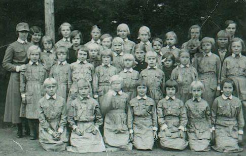 Младшее отделение организации «Lotta Svärd». 1934 г.
