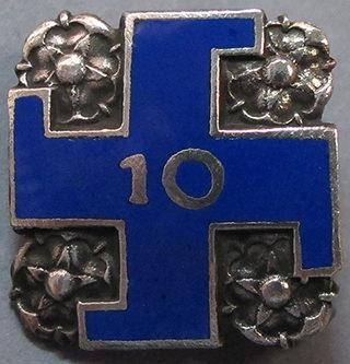 Серебряный памятный знак «10 лет в рядах «Lotta Svärd».