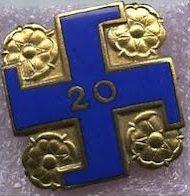 Золотой памятный знак «20 лет в рядах «Lotta Svärd».