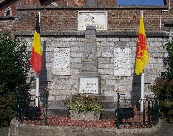 Муниципалитет Fallais. Памятник погибшим воинам и жертвам обеих войн.