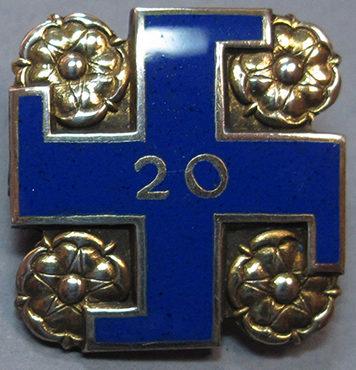 Серебряный памятный знак «20 лет в рядах «Lotta Svärd».