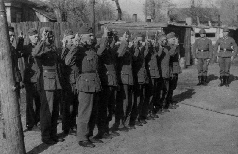 Хиви присягают на верность фюреру.