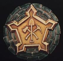 Знак военнослужащих инженерных войск 1-го класса.