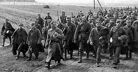 Пленные польские солдаты. Сентябрь 1939 г.