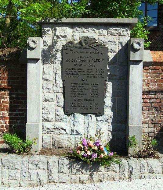 Муниципалитет Baulers. Памятник воинам, погибшим в 1940-1945 годах.