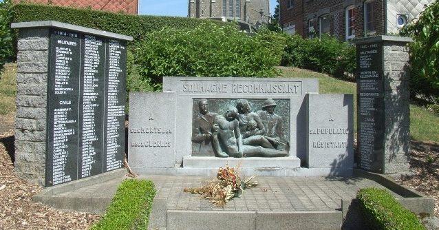 Коммуна Fecher. Военный мемориал обеих войн.