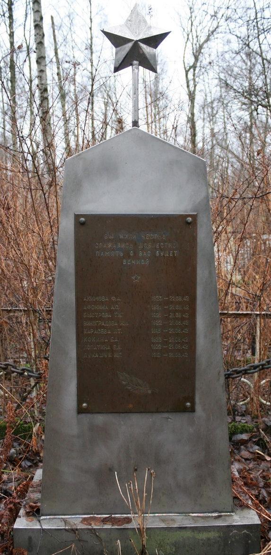 Памятник на братской могиле бойцов МПВО.