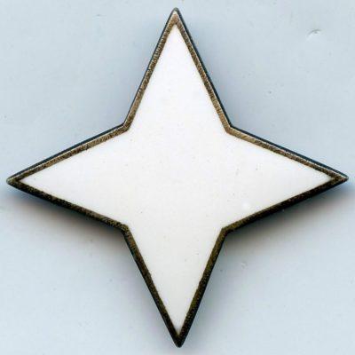 Аверс и реверс серебряного знака об окончании военных курсов «Lotta Svärd».