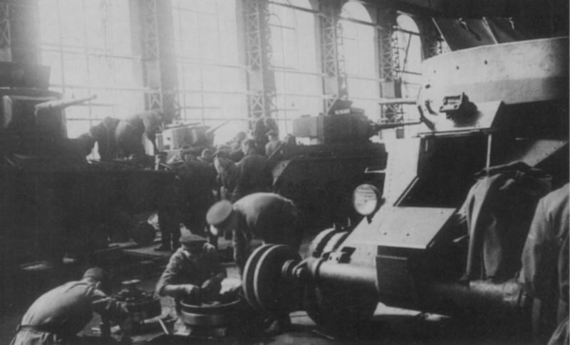 Ремонт танков для фронта. Сентябрь 1941 г.