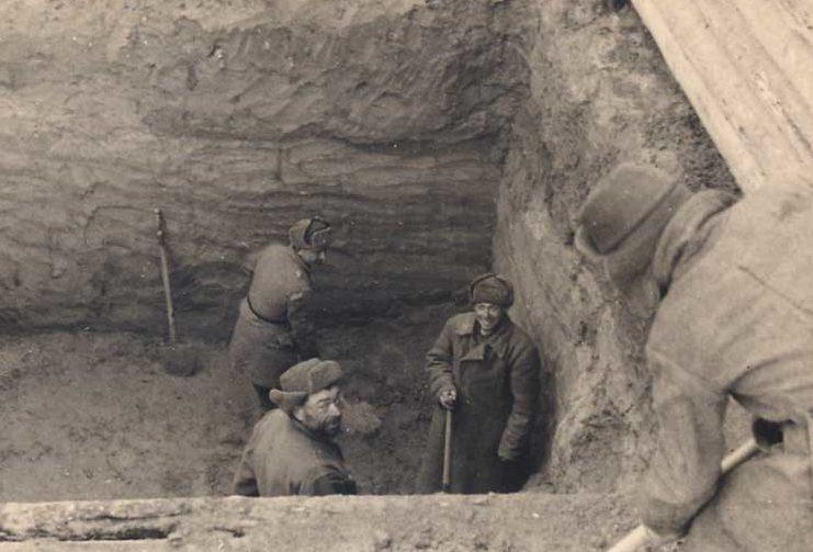 Хиви на работах. 1941 г.