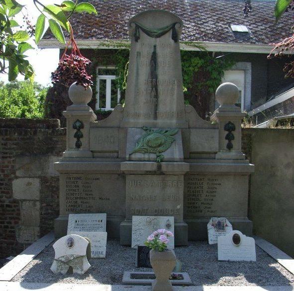 Муниципалитет Flemalle-grande. Военный мемориал обеих войн.
